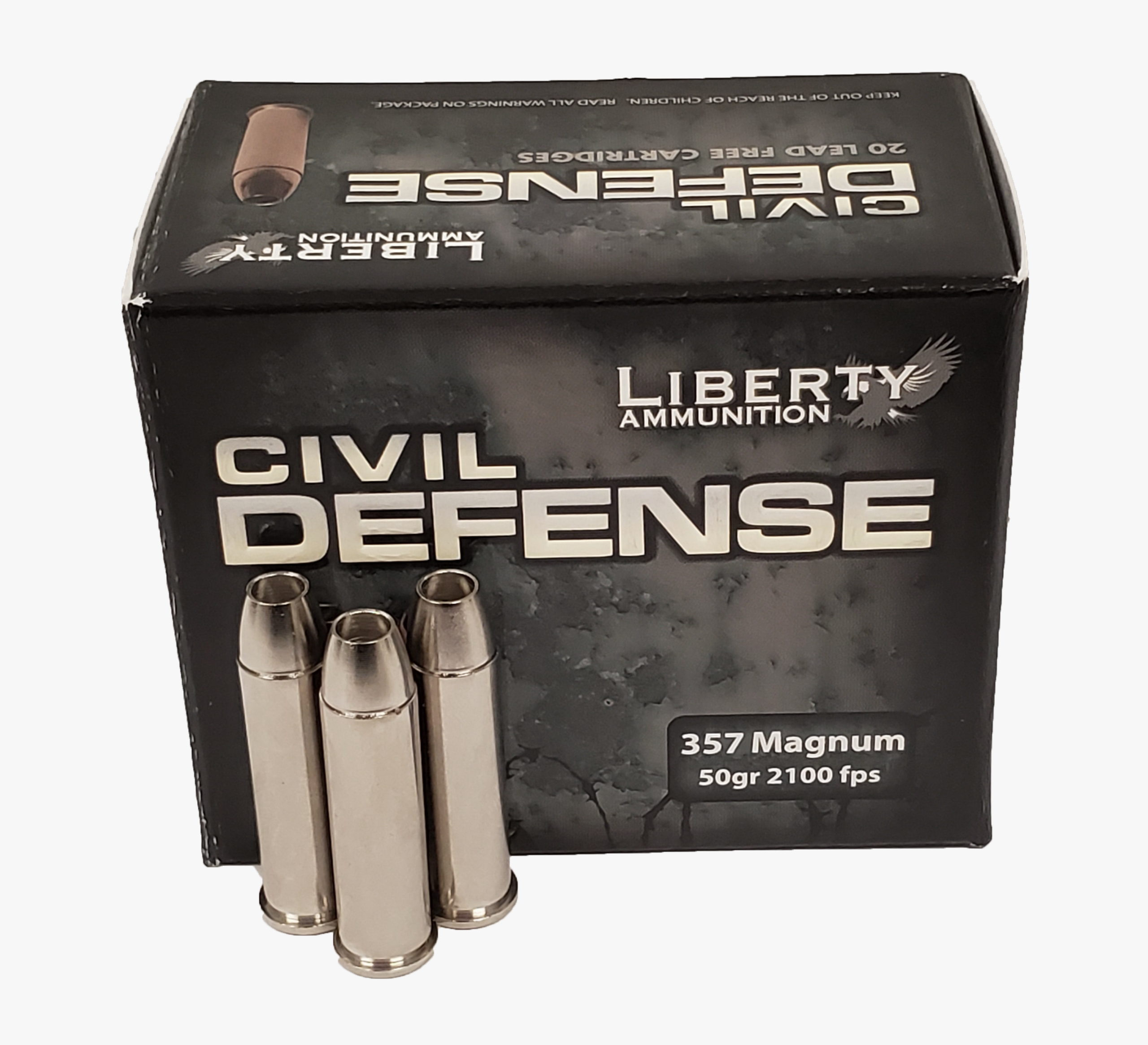 Civil Defense 357 Magnum - Liberty Ammunition - Self-Defense Rounds