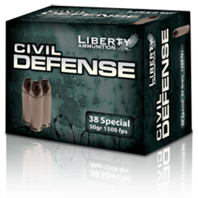 38 Special Civil Defense Liberty Ammunition