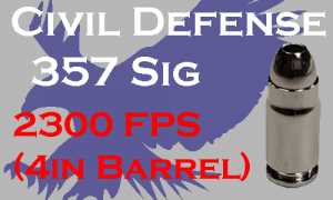 civil defense 357 sig